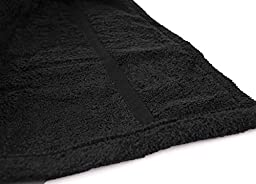 Turkishtowels Mens and Womens Original Terry Shawl Turkish Bathrobe, X-Large - Black