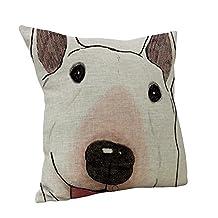 Nunubee Animal Home Pillow Cases Car Decor Cotton Linen Throw Bed Pillowcase Cushion Cover Big Dog