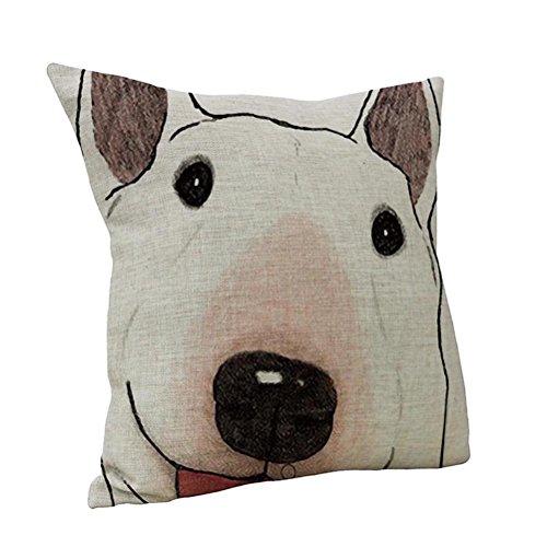 Nunubee Animal Home Car Decor Cotton Linen Throw Sofa Pillow