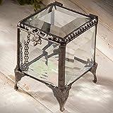 J Devlin Box 153 Beveled Glass Keepsake Jewelry Ring Box Gift 2 x 2 x 2 1/4