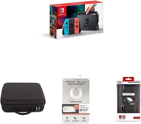 Nintendo Switch - Consola (Azul y Rojo Neón) + BigBen Funda rígida ...