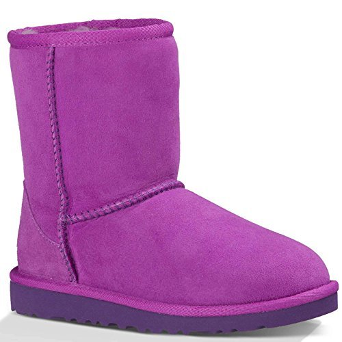 UGG Kids Unisex Classic (Toddler/Little Kid) Crazy Plum Twinface Boot by UGG