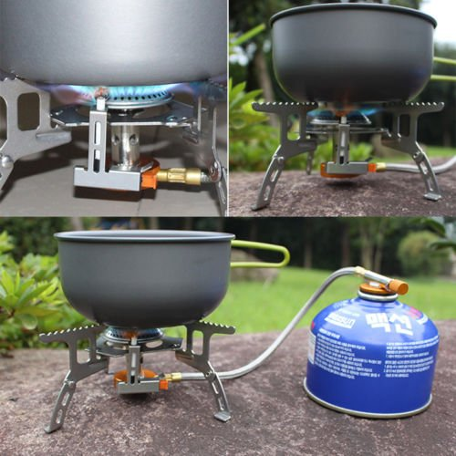 Alicenter(TM) Portable Split Type Gas Stove Picnic Furnace Outdoor Camping Cooking