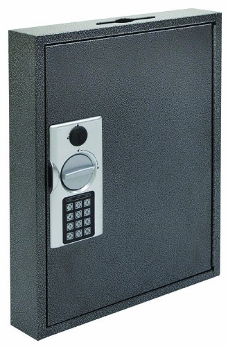 Hercules KE1302-60 Electronic Lock Key Cabinet, Holds 60 Keys, 13-Inch x 2.5-Inch x 17-Inch, Steel, Silver Vein