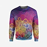 iPrint Mens Elephants Decor Pullover Sweater