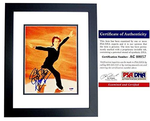 (Scott Hamilton Signed - Autographed Figure Skating 8x10 Photo BLACK CUSTOM FRAME - PSA/DNA Certificate of Authenticity (COA) )