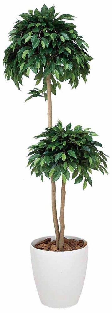 光触媒 人工観葉植物 光の楽園 ベンジャミンダブル 1.6m 168A300 B00XHQIPB0  高さ160cm