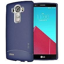TUDIA Ultra Slim Full Matte ARCH TPU Bumper Protective Case for LG G4 (Dark Blue)