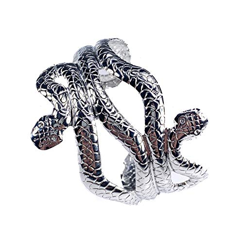 Silver Snake Bracelet Upper Arm Cuff Costume Charm Armlet Armband Bangle for Men Women