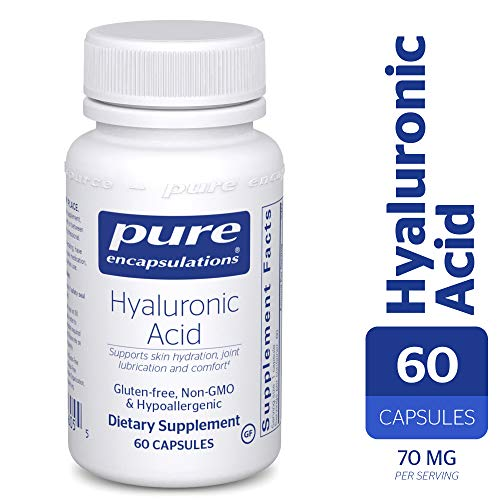 Hypoallergenic Capsules Acid - Pure Encapsulations - Hyaluronic Acid - Hypoallergenic Supplement Supports Skin Hydration, Joint Lubrication and Comfort* - 60 Capsules