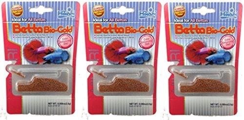Hikari Betta Bio-Gold Baby Pellets Fish Food Bundle Bonus Pack 3 ()