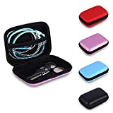Ireav Mini Earphone Cable Bag Hard Charging USB Cable Case Protective Organizer Boxes Earbud Storage Cable Pouches Small Sundries Box 4Pack