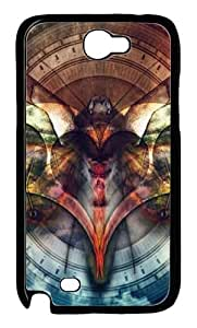 Abstract Heart Clock Polycarbonate Hard Case Cover for Samsung Galaxy Note II N7100šCBlack