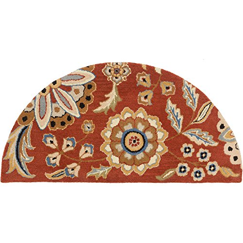 - Surya Athena ATH-5126 Hand Tufted Wool Hearth Floral and Paisley Accent Rug, 2-Feet by 4-Feet