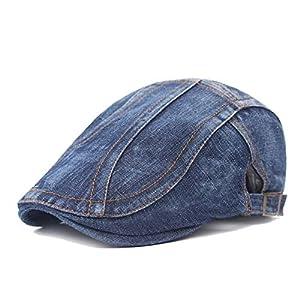 Unisex Denim Newsboy Flat Ivy Gatsby Cabbie Driving Hat Dad Cap