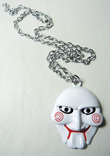 saw puppet mask alloy pendant