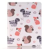 MIYA LTD 7.9 Inch Case iPad Mini 4 Case Cartoon Cover Cute, 2015 Apple iPad mini 4 Luxury Folio Case【Stand】 With【Card Slots】 PU leather Smart Full Body Protective Cover (ONLY for iPad Mini 4