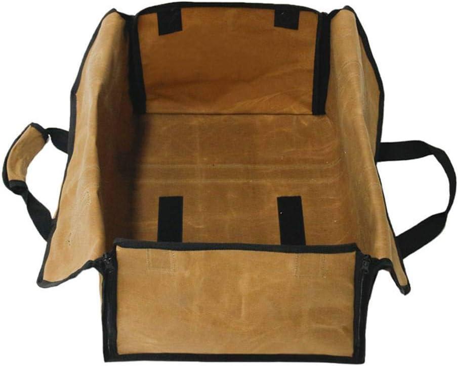 storage tote log bag Fireplace Wood Bag Heavy Duty Waterproof Fireplace Firewood Storage Bag Outdoor Waxed Fire Wood Carrier Multi-functional firewood carrier bag