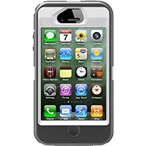 OtterBox Defender Series Case and Holster for iPhone 4/4S - Retail Packaging - White/Gray (Discontinued by Manufacturer)
