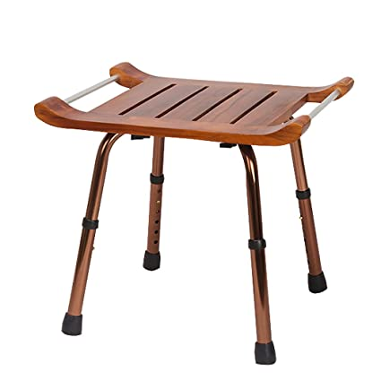 Amazon.com: Bath chair Bath Stool/Foldable Bathroom Solid wood bath ...