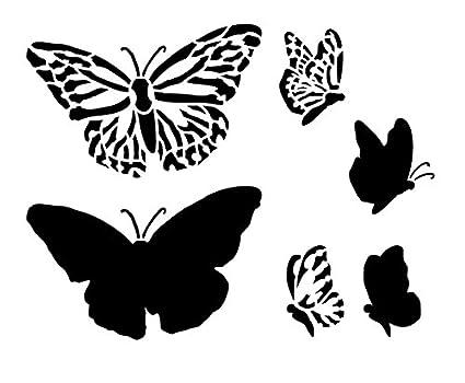 Amazon.com: Monarch Butterfly Stencil by StudioR12   Elegant Nature ...