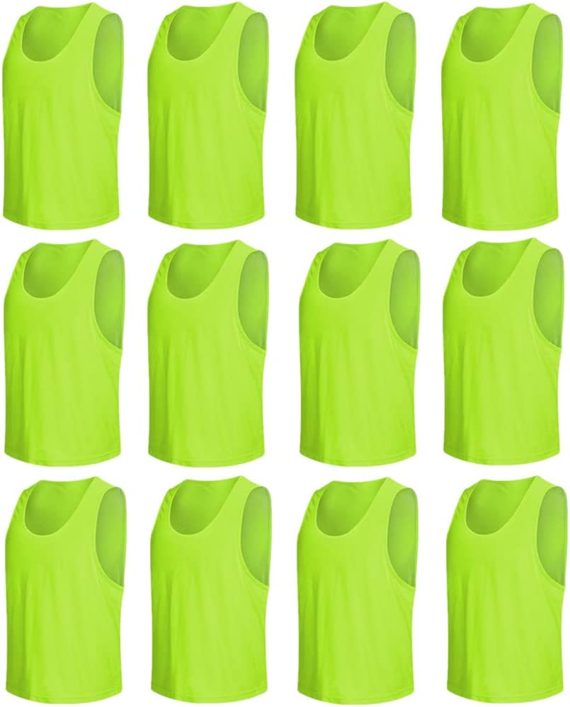 petos de fútbol transpirables de colores