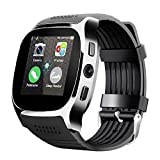 OUYAWEI Multifunction Bluetooth Smart Watch Phone Mate SIM FM Pedometer for Android iOS iPhone Samsung (Black)