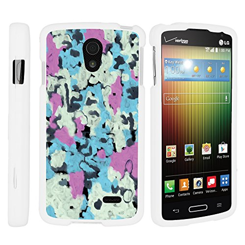 LG Lucid 3 VS876 Cover, Thin Hard Shell Hard Armor Case with Personalized Graphics for LG Lucid 3 VS876 (Verizon) by MINITURTLE - Smudged Marshmallows