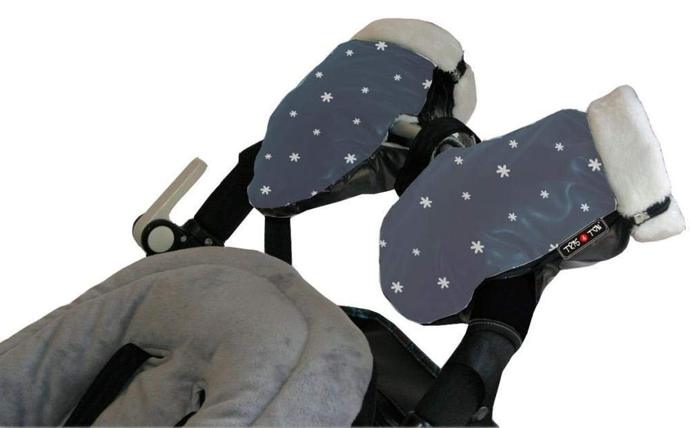 Tris y Ton Tris/&Ton Manoplas impermeables invierno silla de paseo Modelo Friends guantes prueba de viento forro polar para carrito carro cochecito
