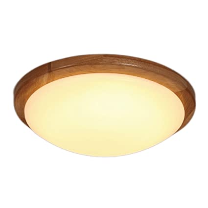 Amazon.com: Japanese Style Round Solid Wood Ceiling Lamp ...