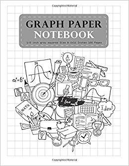 buy graph paper notebook student teacher school home office