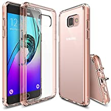 Galaxy A3 2016 Case, Ringke [Fusion] Crystal Clear PC Back TPU Bumper w/ Screen Protector [Drop Protection/Shock Absorption Technology][Attached Dust Cap] For Samsung Galaxy A3 2nd Gen. - Rose Gold Crystal