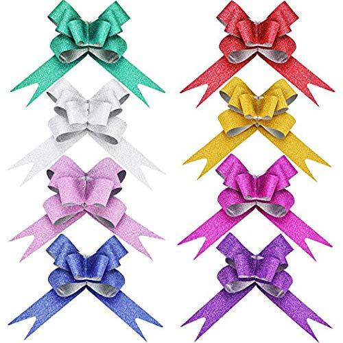 TANG SONG 240PCS Christmas Pull Bows Gift Wrapping
