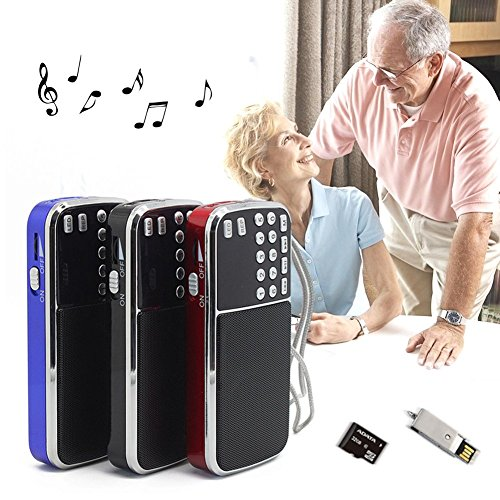 Mercu Portable Mini USB Player FM Radio Outdoor Double Loudspeaker Music Player Micro SD/TF Card For PC iPod Phone(Red) by Mercu (Image #2)