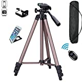 FoAnt Aluminum Professional Lightweight Camera Tripod for iPhone, Cellphone,Gopro Hero,Digital SLR DSLR Video Cameras with Cellphone Holder Clip and Remote Shutter-50