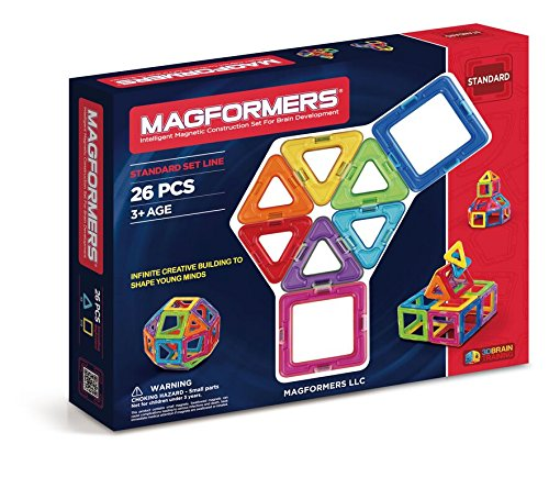 Magformers Basic Set 26 Piece Magnetic Building Toy JungleDealsBlog.com