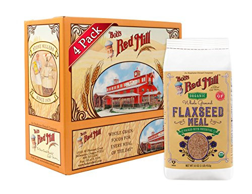 Bob's Red Mill Resealable Organic Brown Flaxseed Meal, 16 Oz (4 Pack) ()
