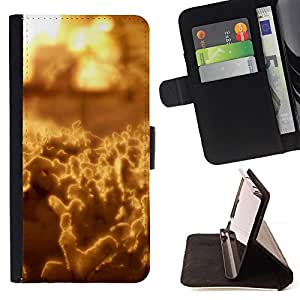 DEVIL CASE - FOR HTC Desire 820 - Abstract Yellow - Style PU Leather Case Wallet Flip Stand Flap Closure Cover