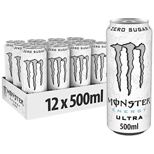 Monster Energy Ultra White Energiedrank, 500 ml x 12 Stuks