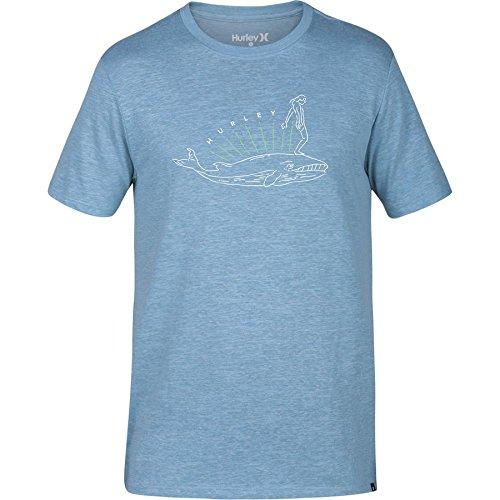 (Hurley MTS0024050 Men's Whaler T-Shirt, Chlorine Blue -)