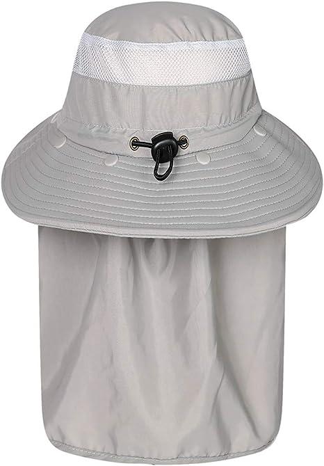 Gorras de Pesca con Solapa SimpleMfD Hombres Mujeres Secado rápido ...