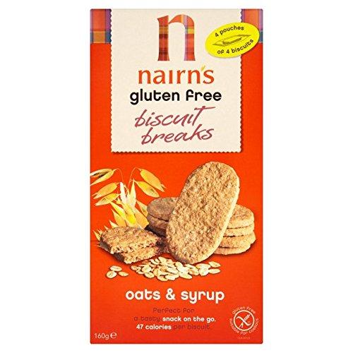 De Nairn Sin Gluten Galletas Breaks Avena y Jarabes 160g