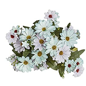 ywbtuechars Handmade Artificial Flower Fake Daisy Gerbera Artificial Flower Bud Cloth Flower Small Daisy Flower Home Living Room Table Vase Decoration Flower 1Pc 9 Branches 4