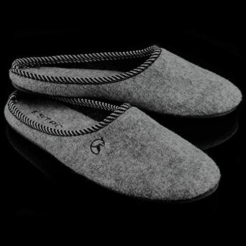Estro REX Women's Luxury Felt House Slippers Grey ul8CF1