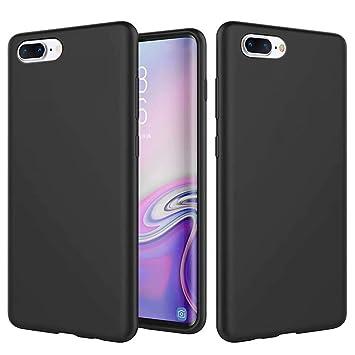 KSHOP Funda Compatible con iPhone 7 Plus/iPhone 8 Plu 5.5 Silicona Líquida Ultrafina Flexible TPU Gel Case Anti-Deslizante/Anti-Choque Protección ...