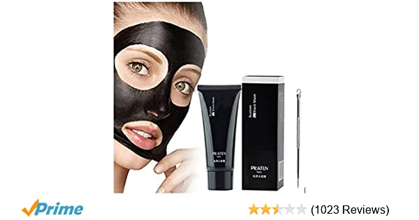 Amazon.com : PILATEN Blackhead Remover Mask, Tearing style Deep Cleansing purifying peel off the Black head, acne treatment, black mud face mask 60g with ...