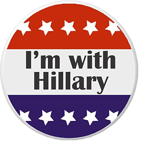 I'm with Hillary Red White Blue Stars 2.25