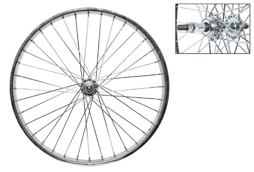 Wheel Master Rear Bicycle Wheel 24 x 2.125 36H, Steel, Bolt On, Silver ()