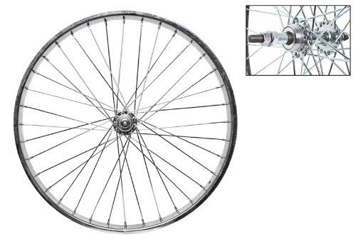 Wheel Master Rear Bicycle Wheel 24 x 2.125 36H, Steel, Bolt On, Silver by WheelMaster