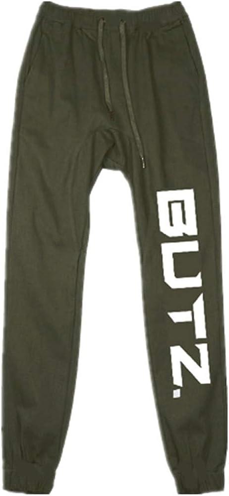 VPASS Pantalones para Hombre, Impresión de Letras Pantalones de ...